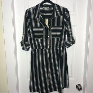 Speed Control Vertical Striped Dress Jumper NEW